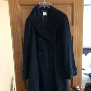 Cashmere long trench coat